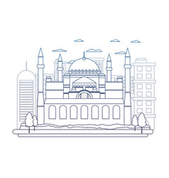 Degraded line taj mahal in india and nice vector