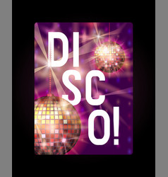 disco poster banner life vector image