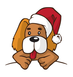 dog in new year hat vector image