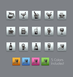 drinks icons - satinbox series vector image