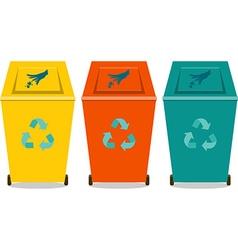 Eco trash vector image