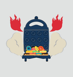 electric oven for donuts vector image