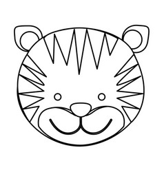 Figure face tiger icon vector