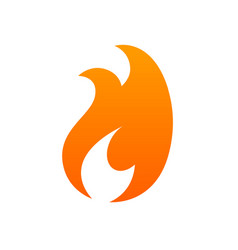 fire logo icon - isolated on white vector image