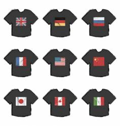 flag t-shirts vector image