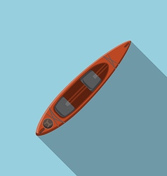 Flat design modern of kayak icon camping hiking vector