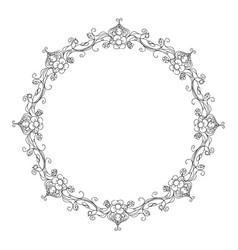 Floral ornament frame wreath vector