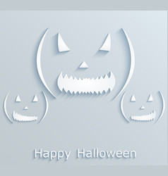 halloween poster or postcard with pumpkins paper vector image