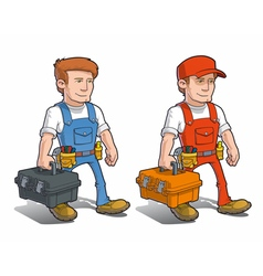 Handyman Carying Toolkit vector