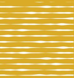horizontal lines seamless pattern mustard vector image