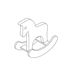 Horse toy icon isometric 3d style vector image