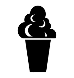 Ice cream icon simple style vector