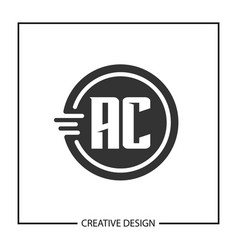 Initial letter ac logo template vector