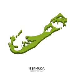 Isometric map of Bermuda detailed vector