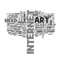 It takes an artist to search for art online text vector