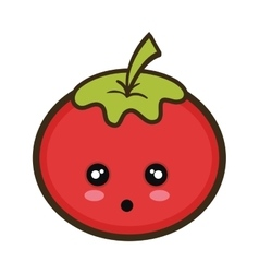 Kawaii cartoon tomato vegetable vector