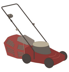 Lawn mower icon grass gardening mowing garden vector