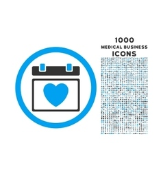 Lovely Calendar Date Rounded Icon with 1000 Bonus vector