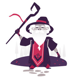 magic old witch man vector image
