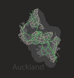 Map - auckland new zealand - flat vector