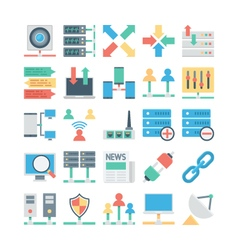 Network and Communication Colored icons 3 vector image