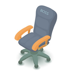 office chair icon isometric 3d style vector image
