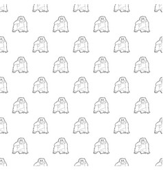 Orangutan pattern seamless vector