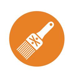 Paintbrush bristles icon vector
