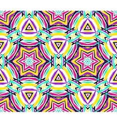 Painted Kaleidoscope Star Pattern vector