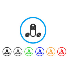 penis potency tablets rounded icon vector image