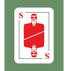 Playing card security Conceptual new card suit vector image