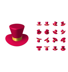 red wizard cap with gold ribbon vector image