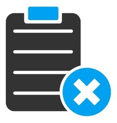 Reject Form Icon vector