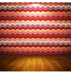 Retro room with wooden floor vector
