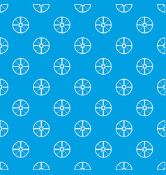 Round shield pattern seamless blue vector
