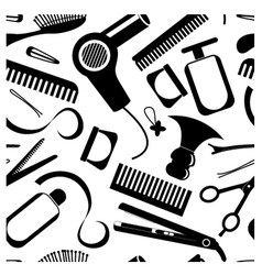 Seamless hairdressing pattern vector image