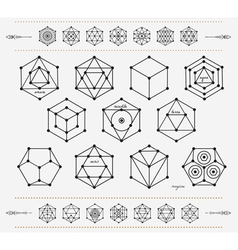 Set of geometric hipster shapes and arrowsd4 vector
