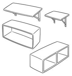 set of shelf vector image