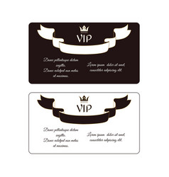set of two elegant horizontal discount cards of vector image vector image