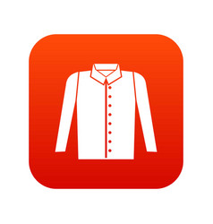 shirt icon digital red vector image