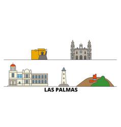 spain las palmas flat landmarks vector image