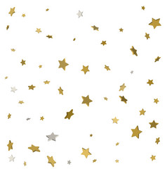 stream gold stars on a white background vector image