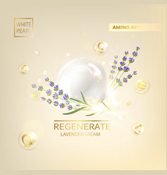 template of lavender creame label vector image