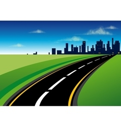 the road to city vector image