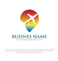 travel location logo designs vector image