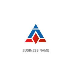 triangle shape design company logo vector image
