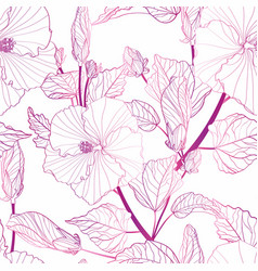 tropical seamless pattern with exotic vector image