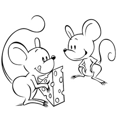 Two mouses vector