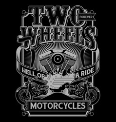 Two wheels vector