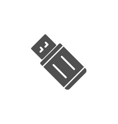 usb flash drive simple icon memory stick sign vector image